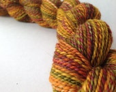 NEW COLORWAY - End Of Summer - dyed in the wool, bfl superwash sock yarn, hand dyed, millspun