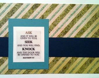 Scripture notecard--Matthew 7 7