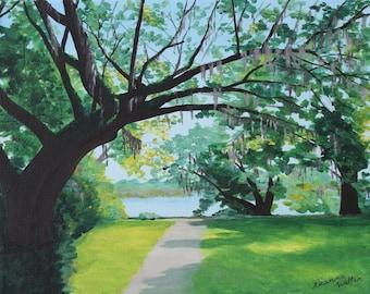 Charleston Live Oak Tree Painting