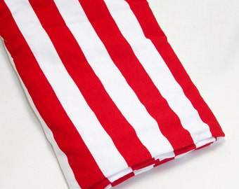 Red and White Stripes Swaddle Blanket, Baby Swaddler, Baby Receiving Blanket, Swaddler, Lightweight Cotton Blanket