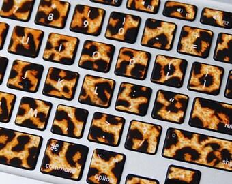 keyboard sticker macbook air sticker macbook air decal macbook pro decal ipad sticker iphone sticker 经典豹纹