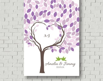 Wedding Guest Book Alternative Wedding Gift Wedding Tree - Wedding Signs Guest Book Tree - Wedding Keepsake -  Wedding Poster Guest Book