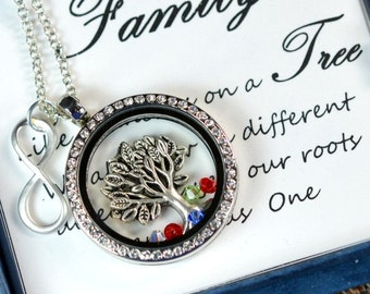 Personalized Family necklace,Grandma, Mom Jewelry,Mother Necklace,Family Tree Necklace,Monogram,Sister,Christmas Gifts,aunt,grandmother gift