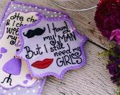 Decorated Purple Bridesmaid, Wedding Favor, Bridal Shower Cookies