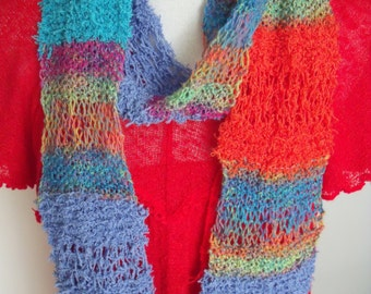 scarf in all sorts of colors, without black and white (length 160 cm, width 12 cm)