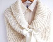 Bridal Cape Ivory Cream Wedding Shawl Bridal Shrug  Bridal Capelet  Bridal Bolero, Feminine shawl,