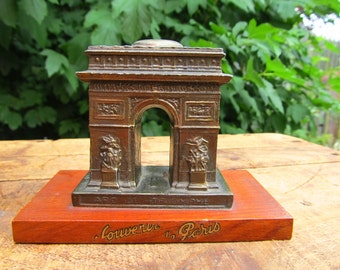 Vintage Metal Arc De Triomphe Statue - Paris Souvenir - Arc of Triumph