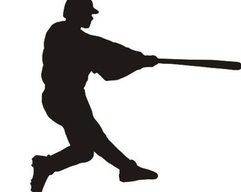 Baseball batter vinyl decal