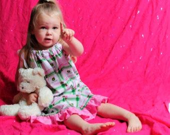 Pink John Deere Pillowcase Dress Size 2T