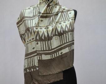 Vintage STRENESSE long silk scarf....