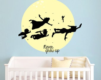 Popular Items For Peter Pan Wall Decal On Etsy