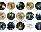 NEW Harry Potter 1 inch circle digital collage sheet, 15 high quality images, use for bottle caps Instant Download & Print png. file