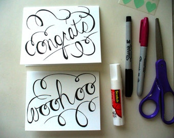 Congratulations and Woohoo Printable Cards