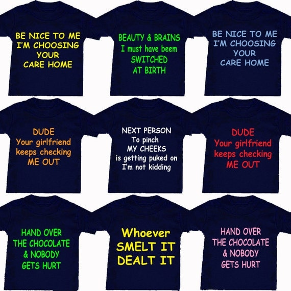 Care home etc t shirt or design your own by babygrowstreet - How to design your own shirt at home ...