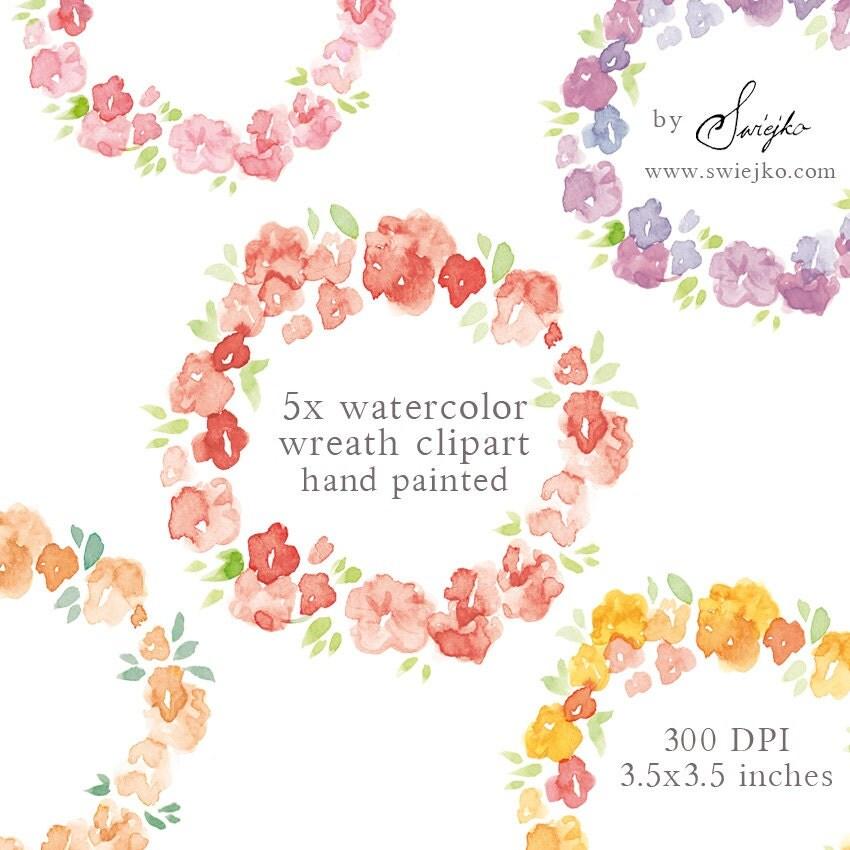 Floral frame clipart | Etsy