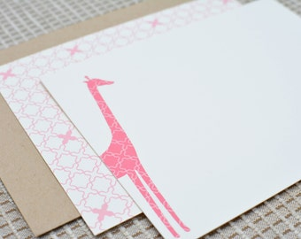 Giraffe Double-Sided Flat Notecards