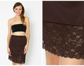 Chocolate Brown Lace Dress Extender Slip
