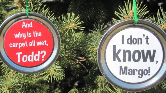 Christmas Vacation 2 Ornament Set Funny Movie Quotes: