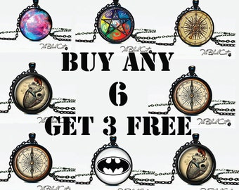Pendants Sale, Buy 6 Pendants Get 3 Free, Jewelry Discount, gift for family, gifts for friends, discount