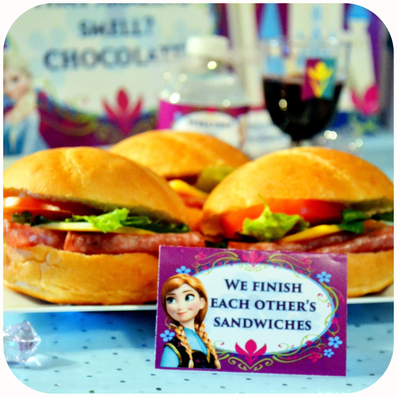 FROZEN Birthday Food Labels Frozen Coronation By
