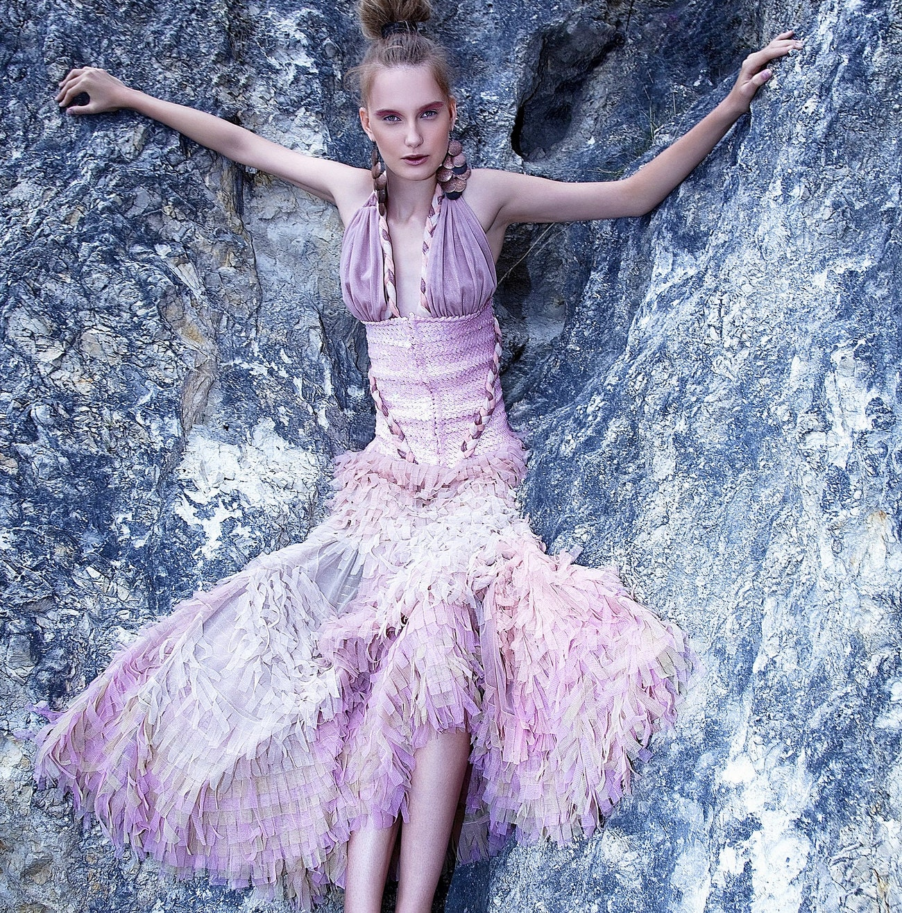 50 sale haute couture dress tulle bespoke design gala sequined for Haute couture sale