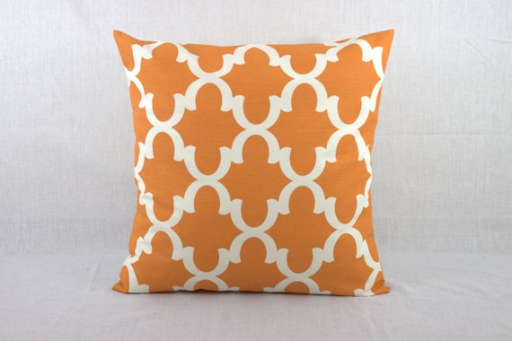 Orange Decorative Pillows Couch : Orange Sofa Pillow Decorative Pillows for Couch by HomeMakeOver