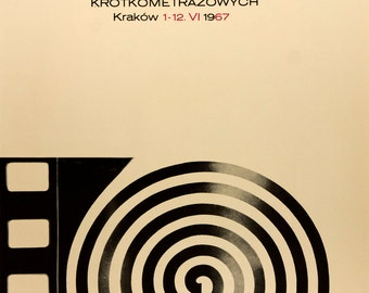 Reprint of a Vintage Polish Film Festival Poster