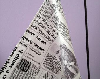 Newspaper Fabric Kitchen Towel