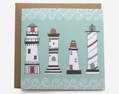 Lighthouse Birthday Card - Blank Card