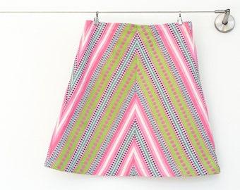 Girls Skirt, chevron skirt, A-line skirt, tween clothing, girl clothing,knee length skirt,boutique clothing,sizes 4T, 5T, 6, 7, 8, 10,and 12