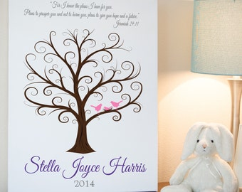Baby Shower Fingerprint Tree - 16x20 - Guest Book Tree - Baby Shower Tree - Guestbook - Shower Guest Book - Baby Shower Thumbprint -CB