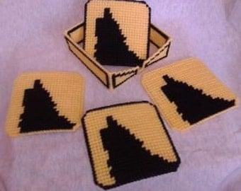 Wolf Plastic Canvas Coaster Pattern Set