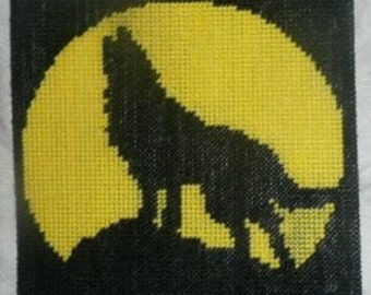 Wolf Plastic Canvas Silhouette Pattern