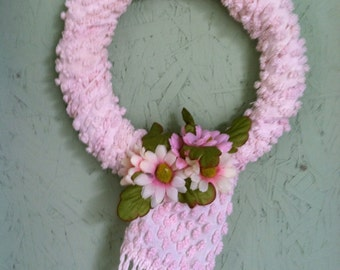 Small Pink Chenille Wreath