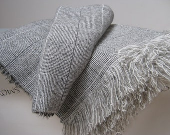 Wool Blanket Oversize King / Queen Blankets, Various Colors, Soft and Plush, No Synthetics