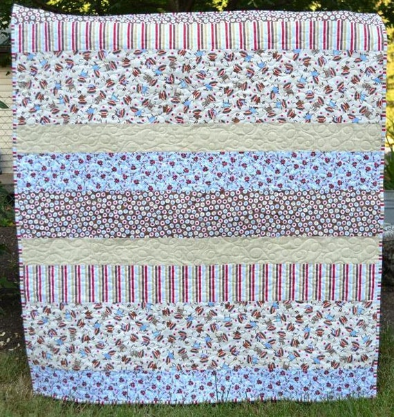 Baby Boy Quilt Baby Girl Quilt Handmade Baby Quilts Stripy