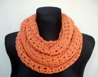 Crochet infinity scarf Winter scarf Long Crochet scarf Circle scarf Crochet cowl scarf Womens loop scarf Fashion accessory, Christmas gift