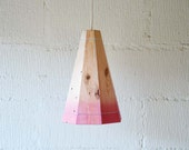 Large Faded Pink Ceiling Light Shade - FactoryTwentyOne