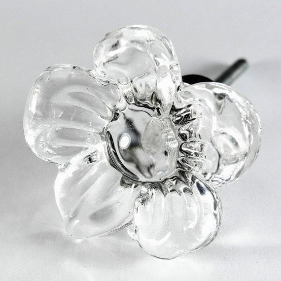 Set 6 Cosmo Glass Cabinet Knobs Kitchen Drawer Pulls Handles