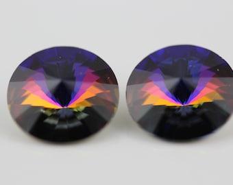 2 ~Crystal Volcano, Swarovski Rivoli Stones (1122)  14mm  (D-5D)