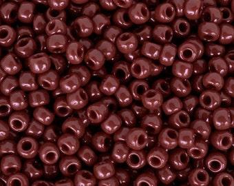 TOHO Seed Bead 11/0 ~ Opaque Oxblood ~ 8 Grams (TR-11-46) D-24