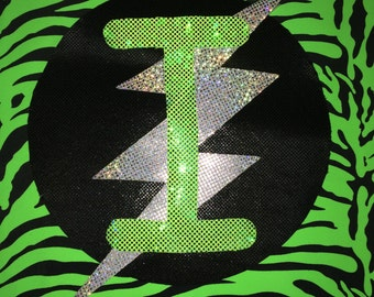Lime Green Zebra Super Hero Cape