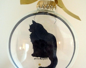 Cat Ornament Long Hair Cat Gifts for Cat Lovers