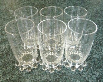 Candlewick Crystal Juice Glasses - Set of Six - Stem #400/19 -