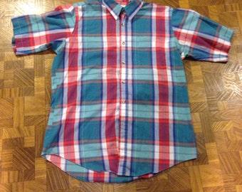 Vintage Plaid Button Shirt