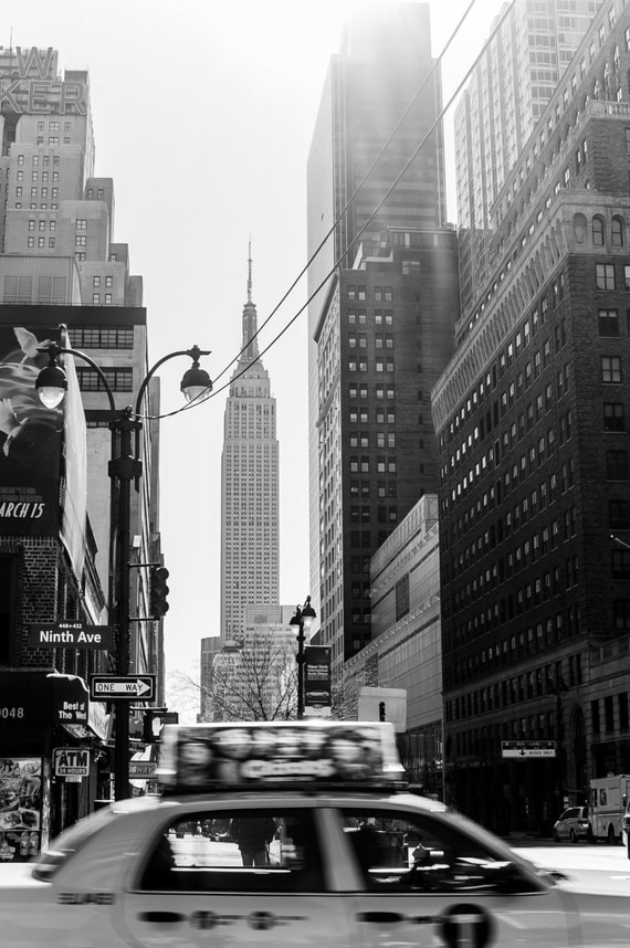 items similar to new york city black and white fine art