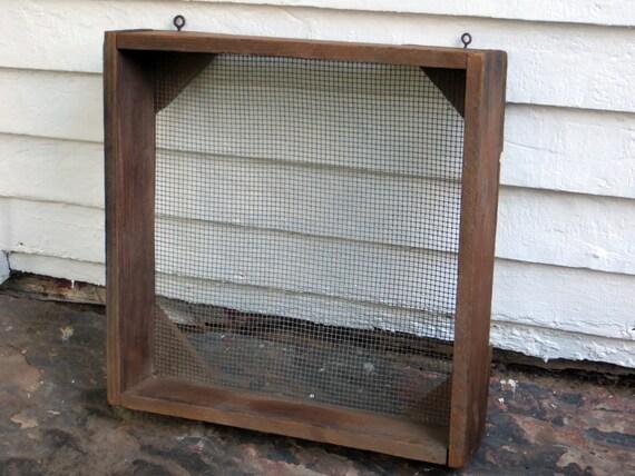 Farm Tool Box Organizer : Primitive grain sifter antique farm tool sieve old