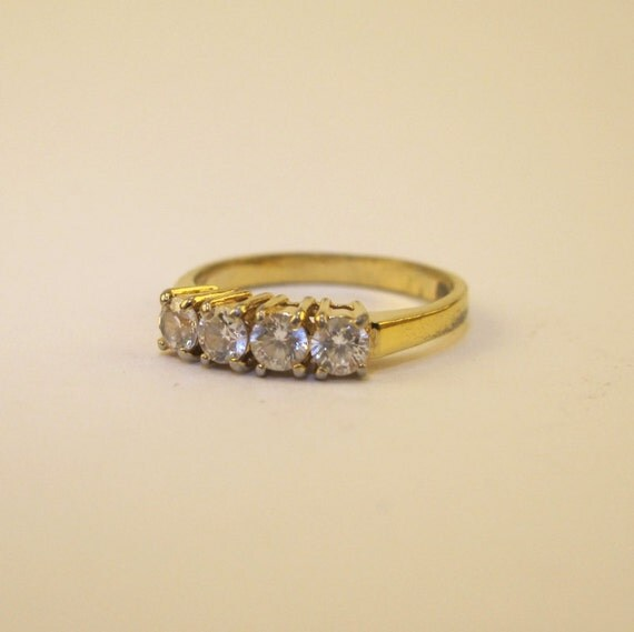 Gold And Diamond Ring Stamped Korea