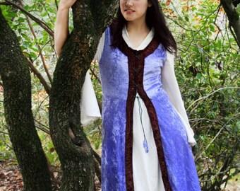 Medieval velvet dress, Velvet medieval dress