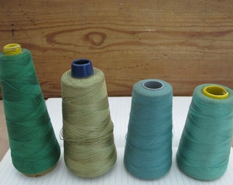 Vintage Sewing Thread, Vintage Thread Spools, Green Thread, Vintage Green Thread, Vintage Sewing, Sewing Thread, By the Yard